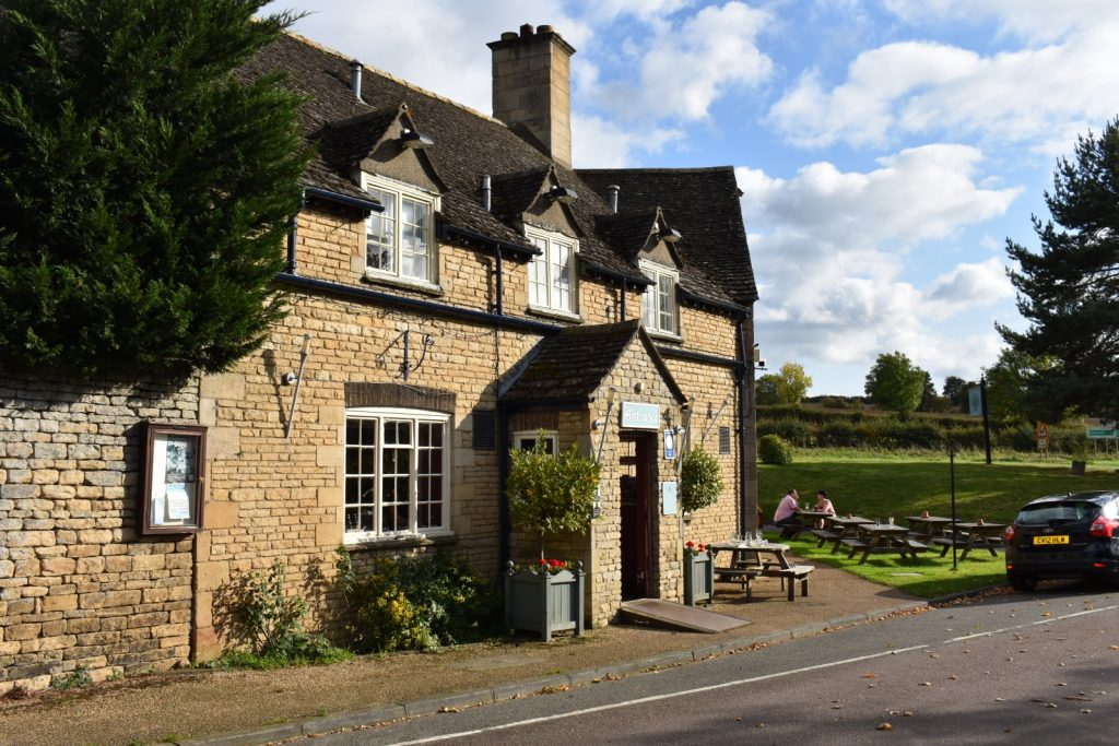 Duddington village pub on a sunny day in early autumn