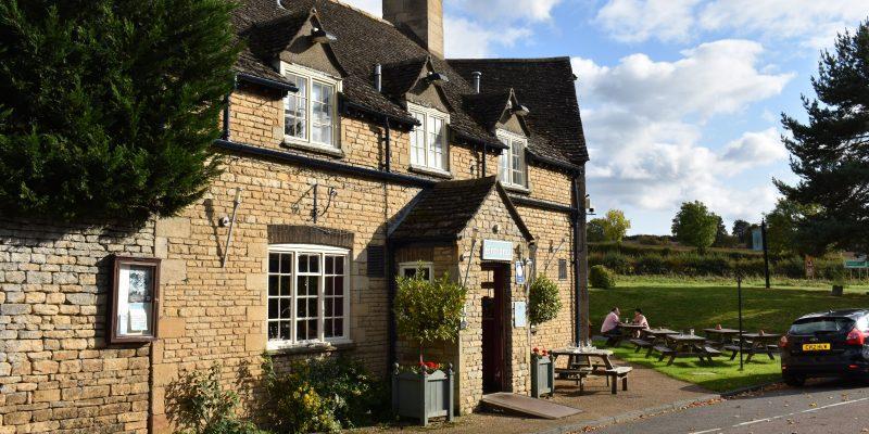 Duddington village pub on a sunny day in early autumn